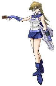 Alexis Rhodes, known as Asuka Tenjouin in the Japanese version, is a strong female Duelist from the Obelisk Blue dormitory at Duel Academy as well as one of Jaden's closest friends.