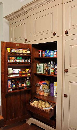 Cream Chalon Housekeeper's Cupboard by ChalonHandmade, via Flickr