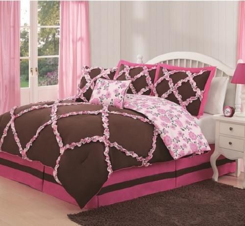 Best 25 girls twin bedding sets ideas on pinterest for Brown and pink bedroom ideas for a girl