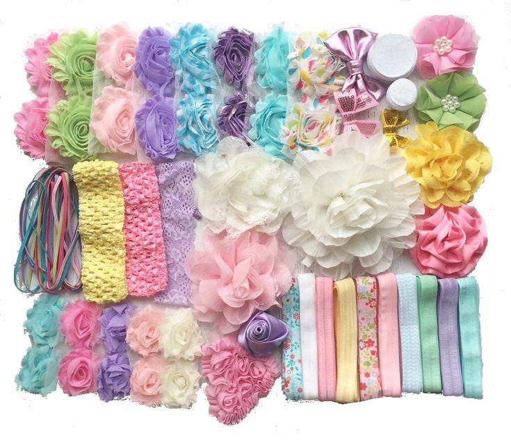 "Baby Shower Headband Kit ""Springtime Pastels"", Baby Shower Headband Station, DIY Headband kit, Baby Girl Headbands, Baby Headband Kit by BowtiqueEmilee on Etsy https://www.etsy.com/listing/271712574/baby-shower-headband-kit-springtime"