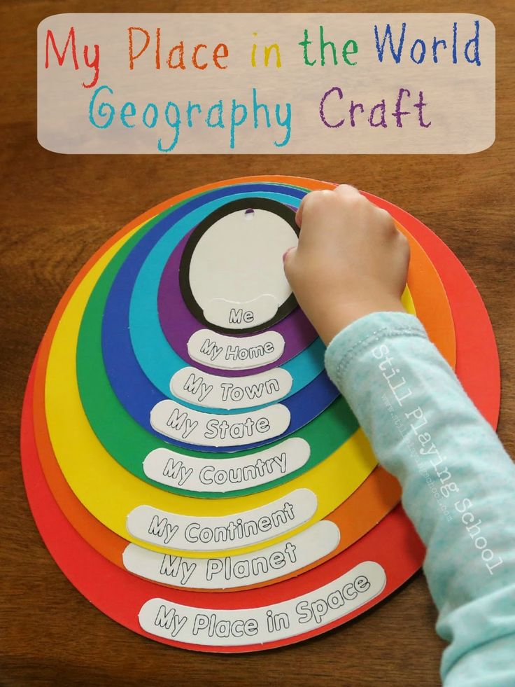 Still Playing School: My Place in the World Geography Craft Review