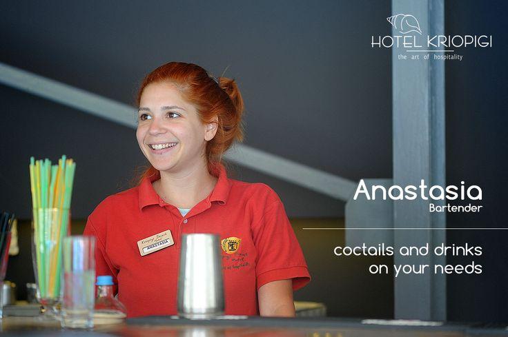 Anastasia Bartender !!! You holidays #hotel in #Halkidiki #Greece  http://kriopigibeach.gr/