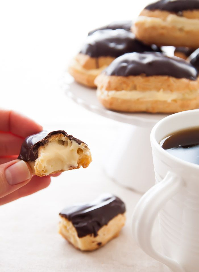 A small batch of perfect, French Chocolate Eclairs! | dessertfortwo.com