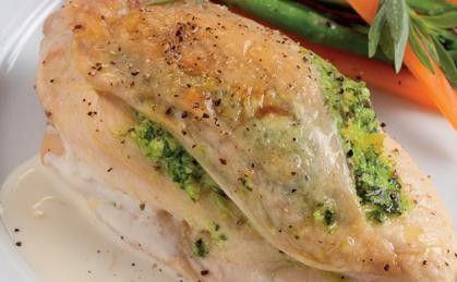 Ziołowy kurczak nadziewany ricottą i szpinakiem
