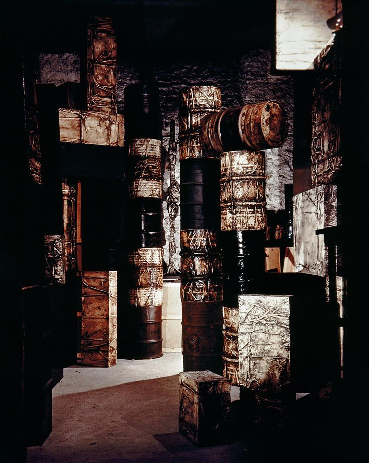 Inventory (Partial view of Christo's storage room in the basement at 4 avenue Raymond Poincaré, Paris)