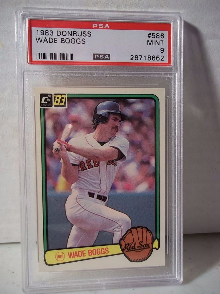 1983 donruss wade boggs rc psa mint 9 baseball card 586