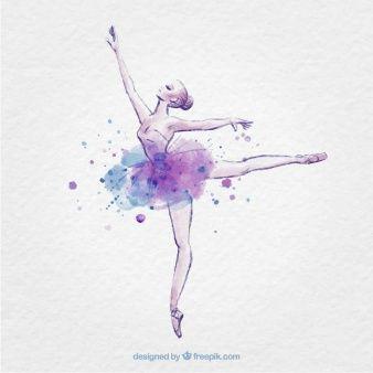 Mão bailarina desenhado com respingo de tinta