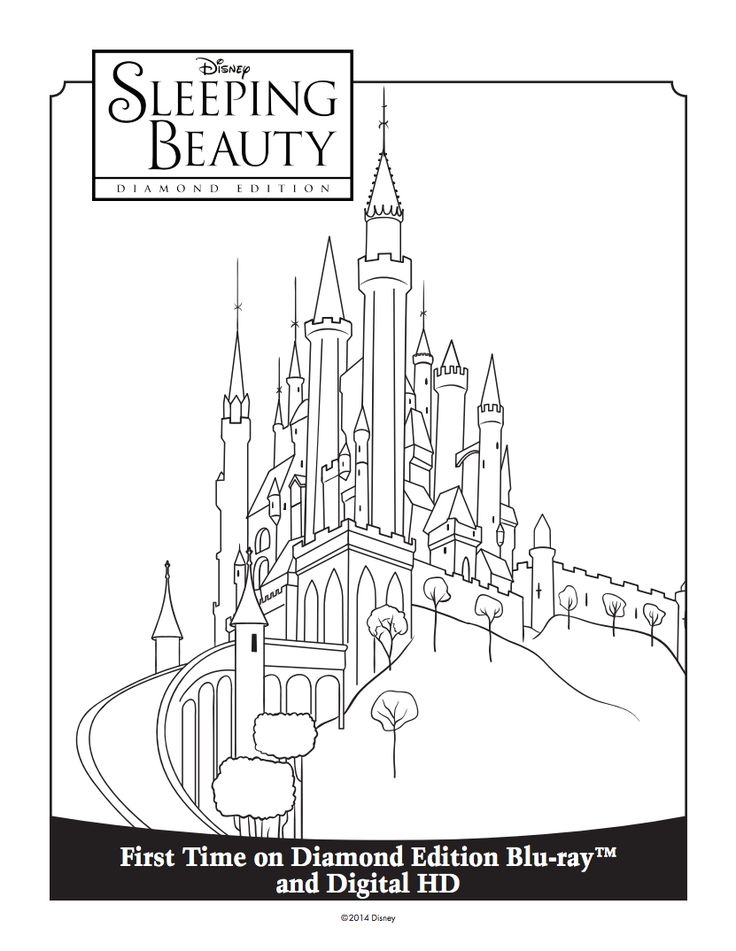 Princess Aurora 39 s Castle Coloring