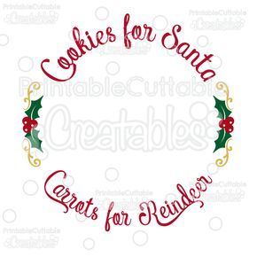 Cookies for Santa FREE SVG Cutting File Christmas Plate Design - Free SVG Files, SVG, Cricut Explore, Cricut, Silhouette, Silhouette Cameo, Silhouette Portrait, Free SVG cuts, Eclips, Cutting Files, Make the Cut, Sure Cuts a Lot, SCaL, and other electronic craft cutting machines for scrapbooking, card making, paper crafting, and more!