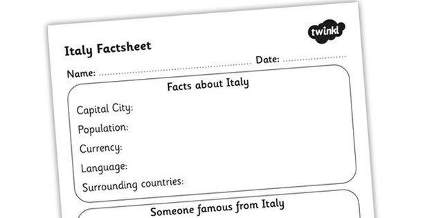 how to write a fact sheet ks1