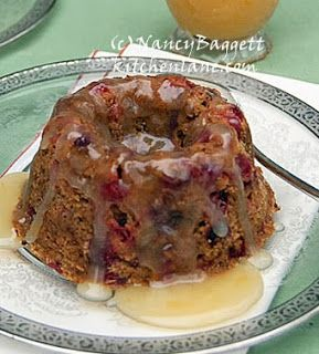 Fab heirloom Steamed Cranberry Pudding with Orange-Butter Sauce. Wonderful traditional Thanksgiving dessert. http://www.kitchenlane.com/2010/11/steamed-cranberry-pudding-serve-this.html