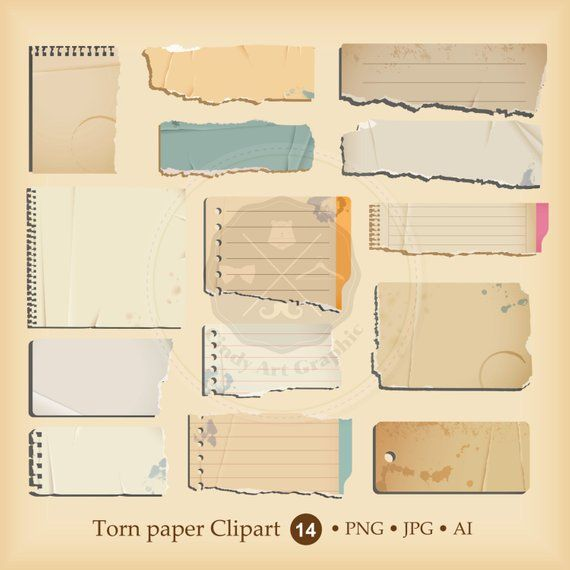 Torn Paper Clipartpaper Clipartripped Paperold Notebook Etsy In 2021 Torn Paper Clipart Design Paper