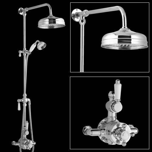 colonne de douche r tro pommeau 19cm douchette victorian bathroom ideas pinterest. Black Bedroom Furniture Sets. Home Design Ideas