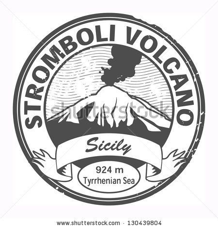 Grunge black stamp with words Stromboli Volcano, Sicily, vector illustration by astudio, via Shutterstock