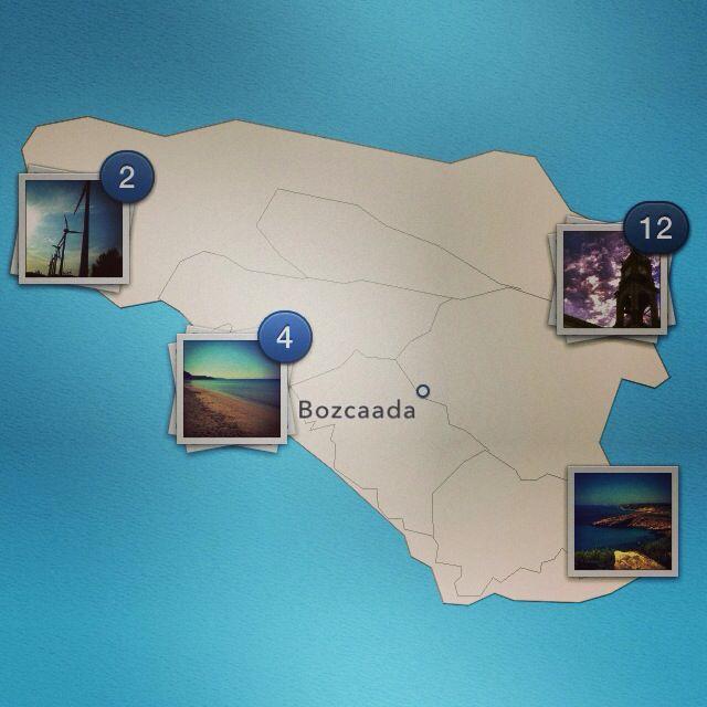 Map of Bozcaada