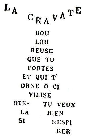 calligrammes- La Cravate - Apollinaire