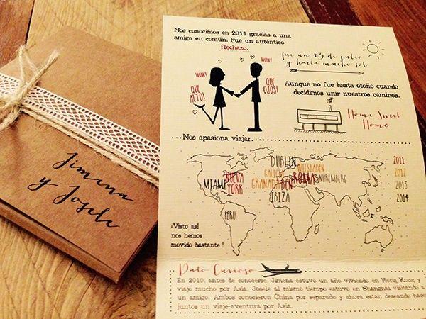 Invitaciones de boda personalizadas Print the Legend Jimena & Josele por @printthelegend #invitaciones #printthelegend #invitacionesdeboda #bodas