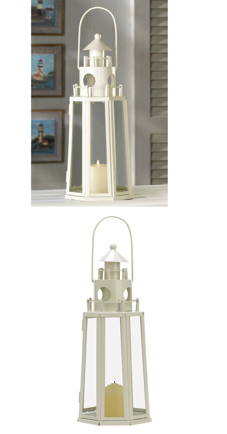 Outdoor D cor Candle Lanterns 183392: Ivory Lighthouse Candle Lantern Indoor Centerpiece Outdoor Deck Patio Decor -> BUY IT NOW ONLY: $53.95 on eBay!