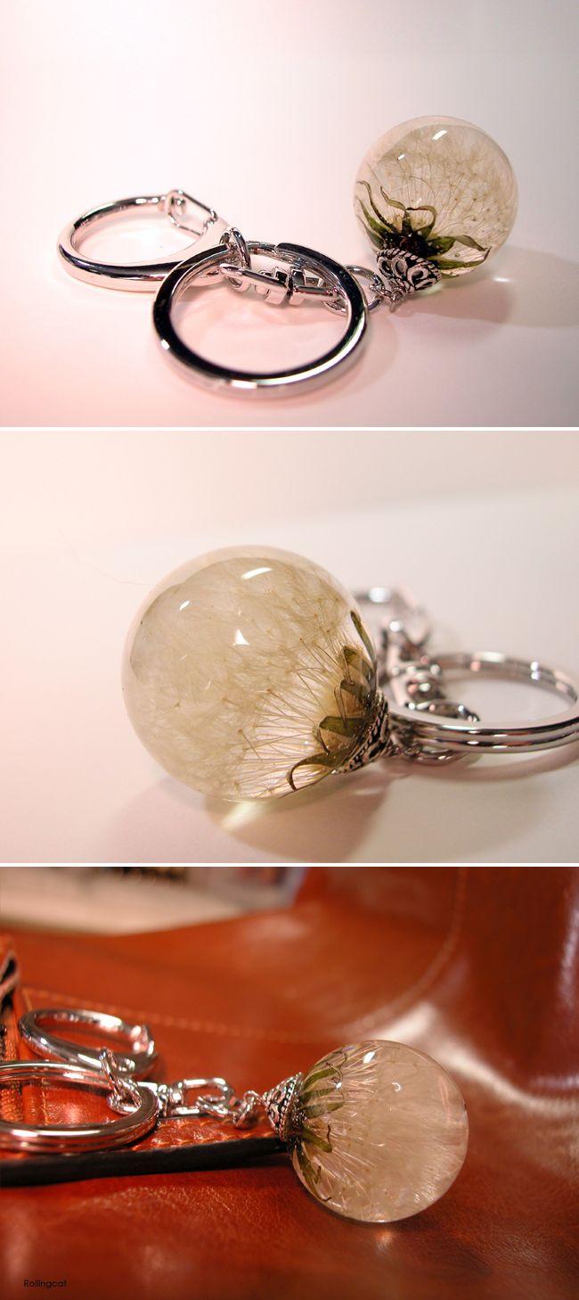Dandelion Resin charm