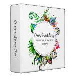 Bold Tropical Palm Leaf Wreath Wedding Photo Album 3 Ring Binder #weddinginspiration #wedding #weddinginvitions #weddingideas #bride