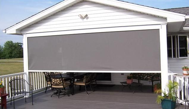 11 best images about outside blinds on pinterest summer for Budget blinds motorized shades
