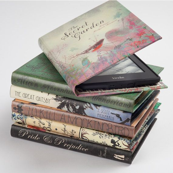 Kindle Case Book Covers by KleverCase by KleverCase on Etsy I want a P&P one!!!