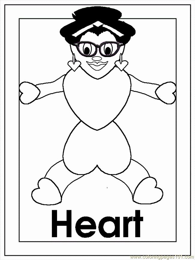 Heart Shape Coloring Page Lovely B Heart Coloring Page Free Shapes