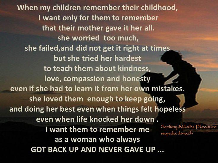 when my children remember