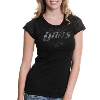 Touch by Alyssa Milano Detroit Lions  Draft Diva Premium Burnout T-Shirt - Black