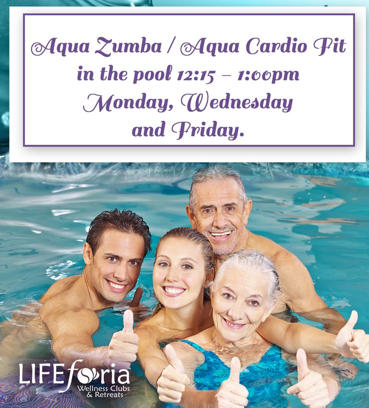 Sault Ste. Marie Location  Starting September 9, join us at LIFEforia Wellness Clubs & Retreats Delta Location for Aqua Zumba/Aqua Cardio Fit classes on Mondays, Wednesdays and Fridays from 12:15 p.m. to 1:00 p.m.  See you there!