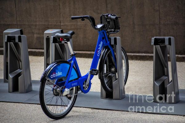 A Single Citi Bike Remains Waiting To Be Rented In One Of
