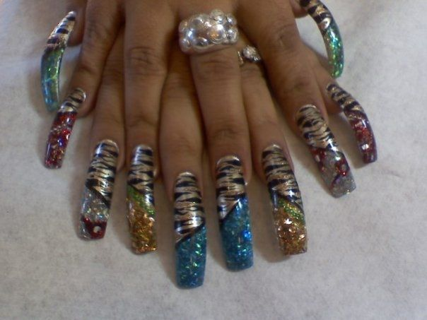 tiger nails ideas