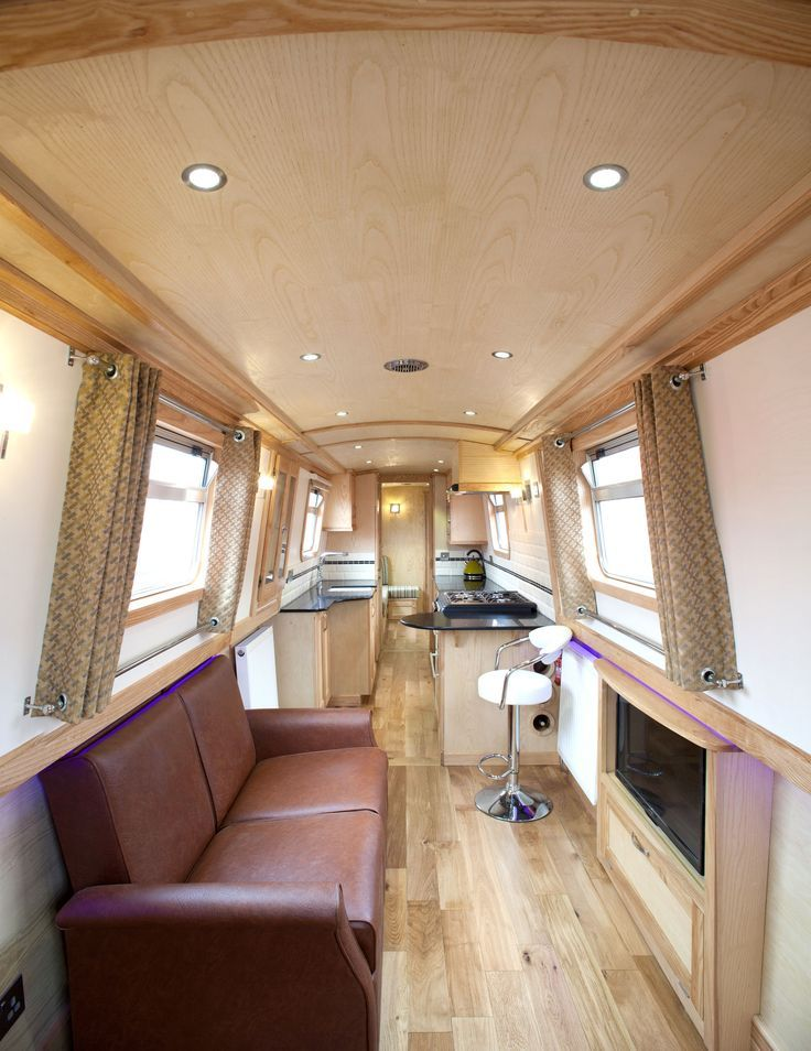 Image result for contemporary narrowboat interiors