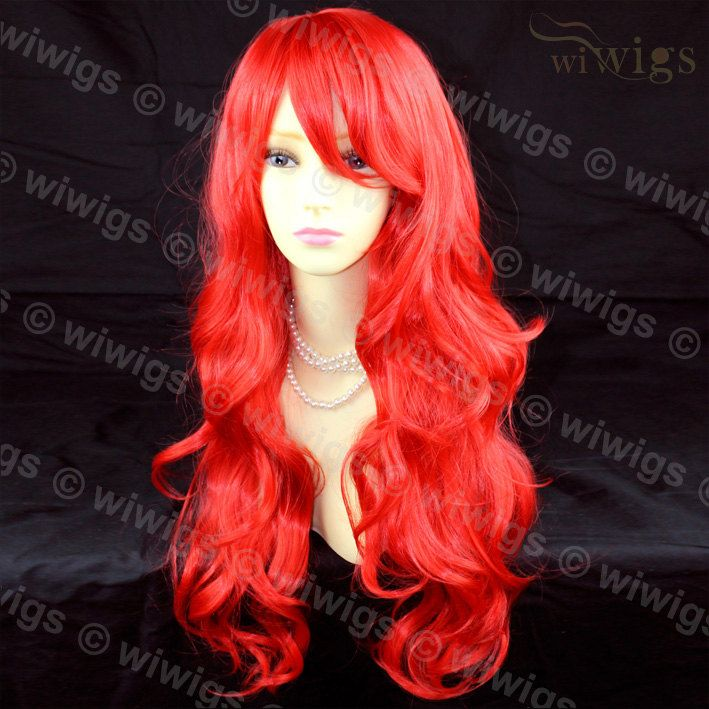 Bellissimo Cosplay lungo a strati ondulati fuoco rosso Ladies pelle Top parrucca WIWIGS di Wiwigs su Etsy https://www.etsy.com/it/listing/221473014/bellissimo-cosplay-lungo-a-strati