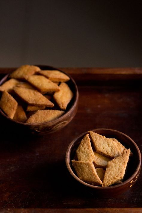 shankarpali recipe - crisp, flaky, melt in the mouth fried and baked biscuits. shankarpali is a popular festive snack from maharashtra.