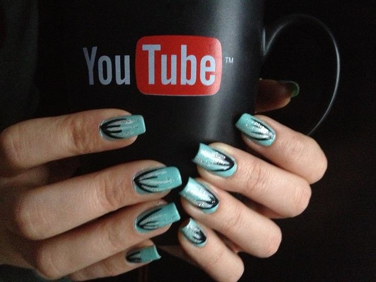 My nails (Turquoise Nail art)