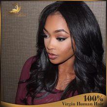 130% densité brésilienne Virgin corps cheveux vague Lace Front perruques sans colle pleine perruque de dentelle perruques de cheveux humains pour les femmes noires(China (Mainland))