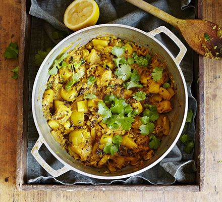 Smashed curried marrow - A delicious vegetarian side dish to spice up a main course- it works well with roast lamb or chicken