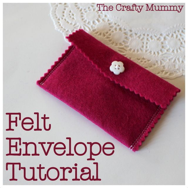 A cute felt envelope is easy to make - a perfect gift card holder or place for special notes. Make it today with this tutorial.