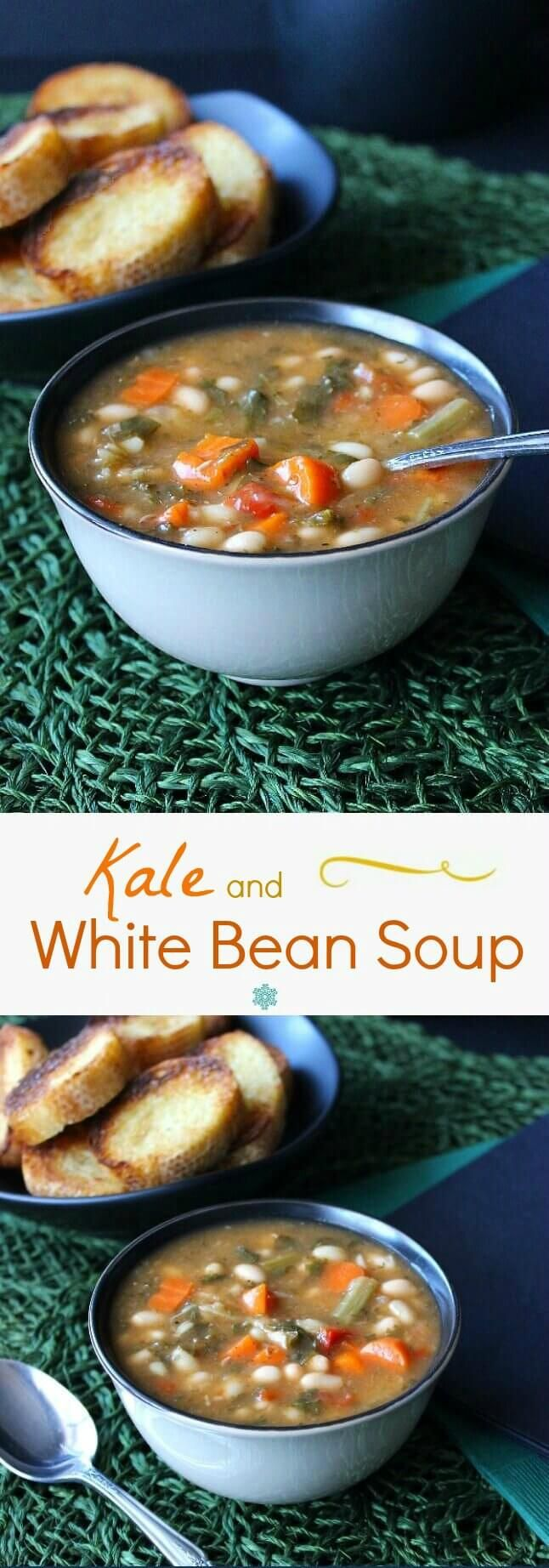 Kale White Bean Soup serves up a complete meal with this one recipe. An easy and delicious recipe that you need to make asap. Great on any night of the week.
