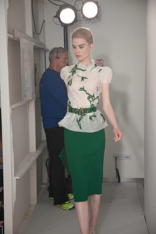 BEHIND THE SCENES - Oscar de la Renta Resort 2013 ~ Thread Ethic | Modest Fashion Blog