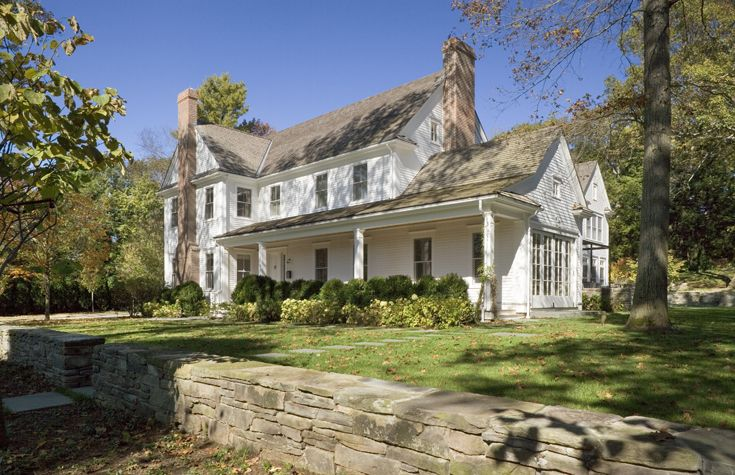 17 best ideas about new england farmhouse on pinterest for New construction farmhouse