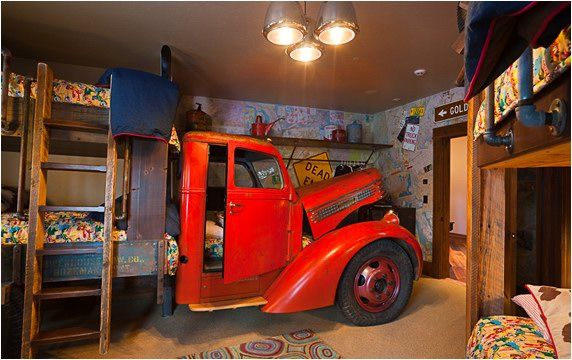 Very Cool Boy's Room with Real Truck!