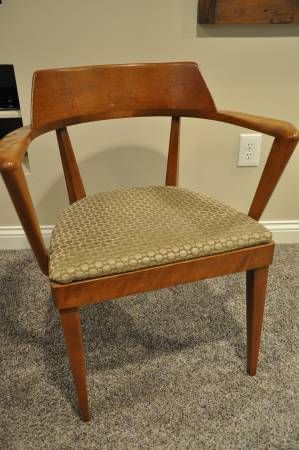 two very unique heywood wakefield midcentury modern chairs both chairs have arms just