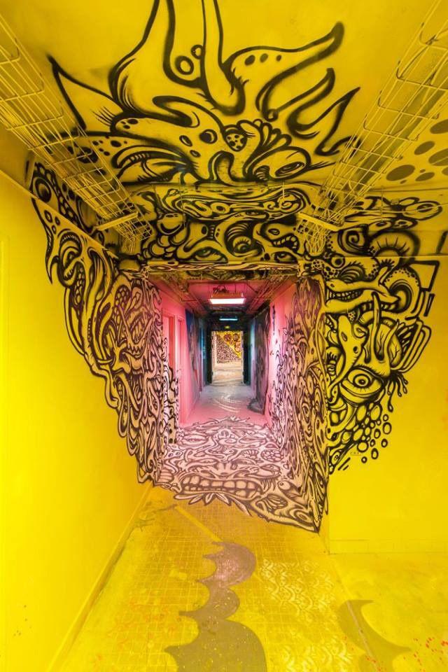 100 street-artistes revisitent cinq étages de la Cité Universitaire à Paris : GOLEM13.FR