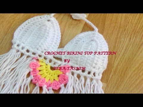 HOW TO CROCHET BIKINI TOP TUTORIAL -1 - YouTube