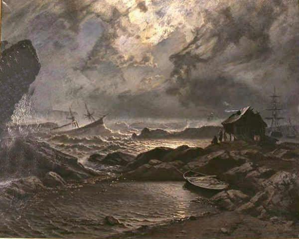 Knud Baade (1808-1879): Stormnatt
