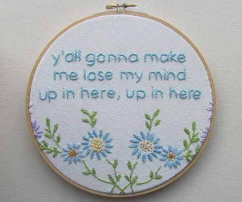 Essential home decor.Sewing In, Rap Lyrics, Middle Schools, Funny, Clothing Stores, Crosses Stitches, House, Cross Stitches, Crafts