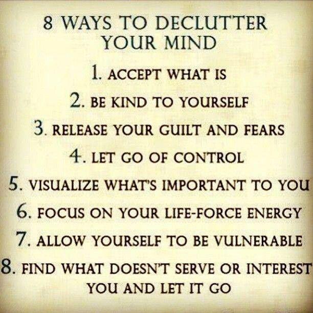 8 ways to declutter the mind