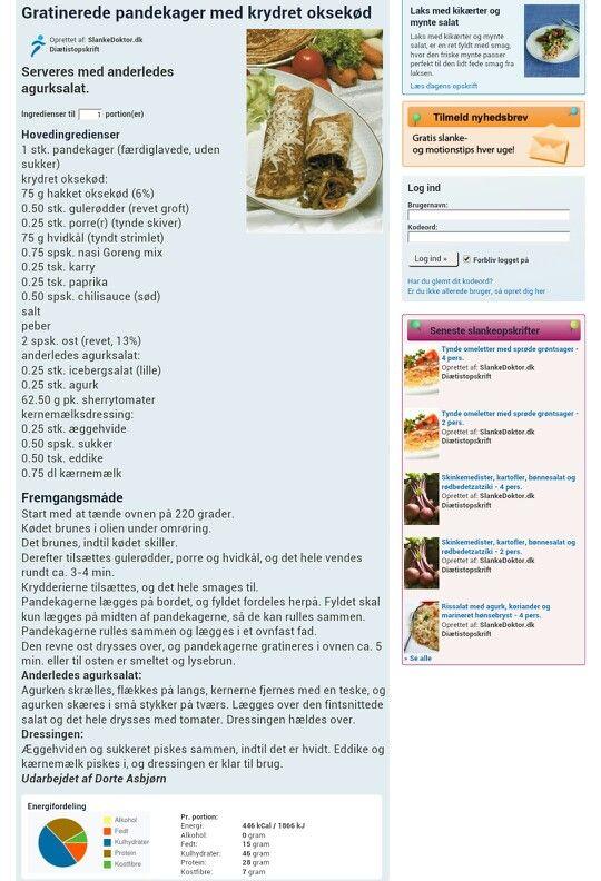 Gratinerede pandekager m. krydret oksekød